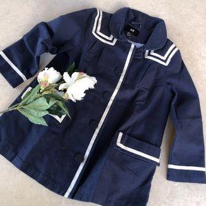 H & M Vintage Style Sailor Pea Coat